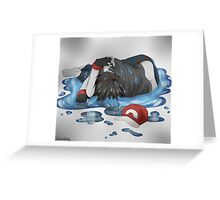 Drowsed Greeting Card