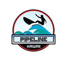 Surfing Pipeline Hawaii Oahu Surf Surfboard Waves Photographic Print