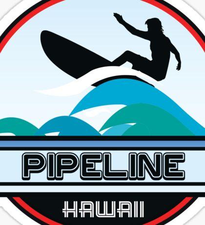 Surfing Pipeline Hawaii Oahu Surf Surfboard Waves Sticker
