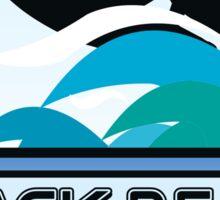 Surfing Black's Beach San Diego California Surf Surfboard Waves Sticker