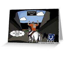 Manning's Last Rodeo Greeting Card