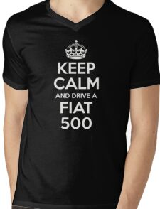 'Keep Calm and Drive a Fiat 500' 500C 500L Turbo Mens V-Neck T-Shirt