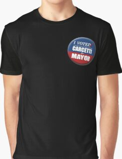 "I Voted Carcetti for Mayor (pin) - ""The Wire"" Graphic T-Shirt"