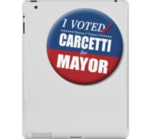 """I Voted Carcetti for Mayor (pin) - """"The Wire"""" iPad Case/Skin"""