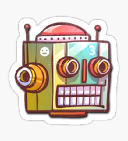 Retro Robot Sticker Sticker