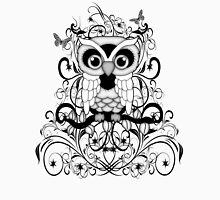 Black lace Owl .. tee shirt Womens Fitted T-Shirt