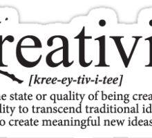 Creativity Definition Sticker