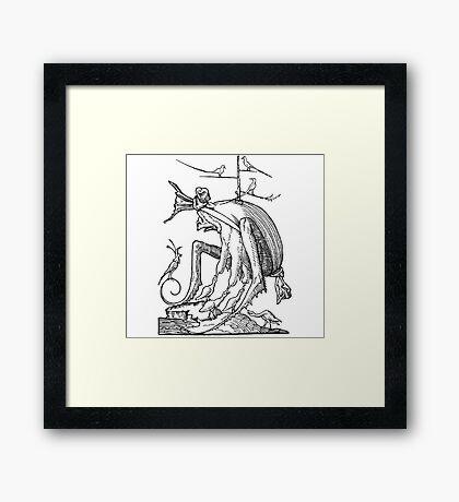 Droll Dreams of Pantagruel Plate 7 Framed Print