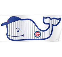 Chicago Cubs Whale Poster