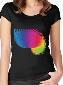 Abstract 426H Fractal Women's Fitted Scoop T-Shirt