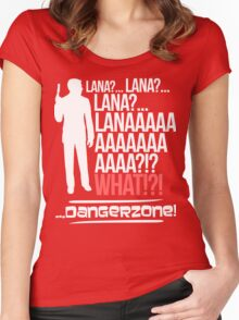 LANAAAAAAA!?!... Danger Zone! Women's Fitted Scoop T-Shirt