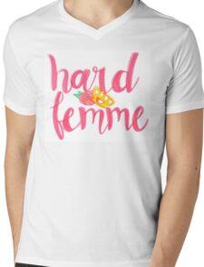 Hard Femme Mens V-Neck T-Shirt