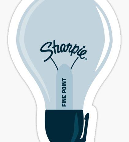 Sharpie Bulb Sticker