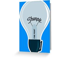 Sharpie Bulb Greeting Card