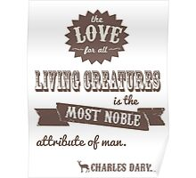 Charles Darwin Quote Poster
