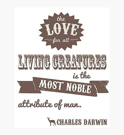 Charles Darwin Quote Photographic Print