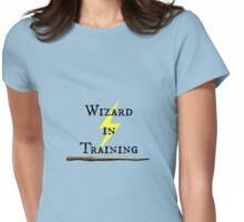 Wizard in Training Black Text Womens Fitted T-Shirt