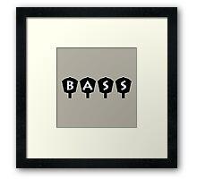 Bass  4 Keys Framed Print