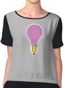 Pencil Bulb Chiffon Top