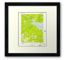 USGS TOPO Map New Jersey NJ Green Bank 254426 1956 24000 Framed Print