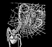 Pig in a spiderweb  by rlnielsen4