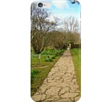 Up the garden path iPhone Case/Skin