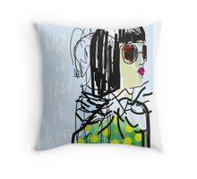 smart girl Throw Pillow