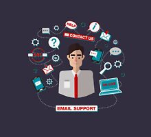 Technical Email Support Service with Man. Online Service.  Unisex T-Shirt