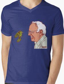 Bernie Sanders and bird Mens V-Neck T-Shirt
