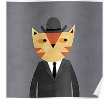 Ginger Cat in a Bowler Hat Poster