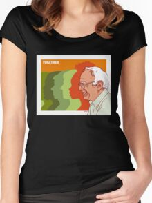 Bernie Sanders Poster Women's Fitted Scoop T-Shirt