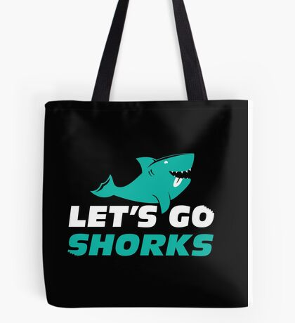 Let's Go Shorks! Version 2 Dark Tote Bag