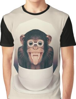 Caffeinimals: Monkey Graphic T-Shirt