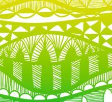 ethnic background of waves Sticker