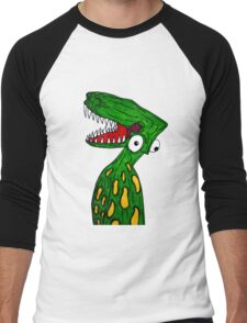 Alien Dinosaur  Men's Baseball ¾ T-Shirt