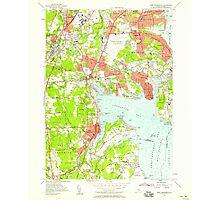 USGS TOPO Map Rhode Island RI East Greenwich 353280 1957 24000 Photographic Print