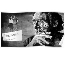 BUKOWSKI - LOVE version - black Poster