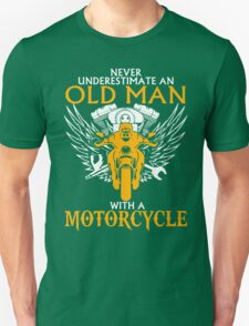 Motorcycle With Old Man T-Shirt