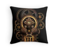 Infernal Steampunk Vintage Machine #2B Throw Pillow