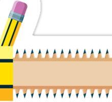 Pencil - Chainsaw Sticker