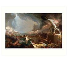 The Course of Empire: Destruction by Thomas Cole (1836) Art Print