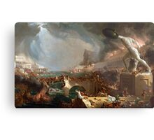 The Course of Empire: Destruction by Thomas Cole (1836) Metal Print