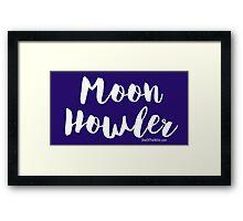 Moon Howler Framed Print
