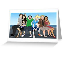 L and R Groupie Greeting Card