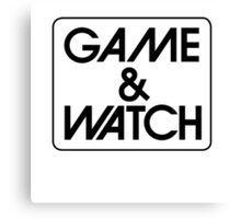 Game & Watch Logo Canvas Print