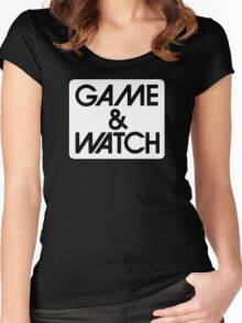 Game & Watch Logo Women's Fitted Scoop T-Shirt