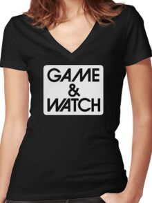 Game & Watch Logo Women's Fitted V-Neck T-Shirt