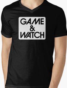 Game & Watch Logo Mens V-Neck T-Shirt