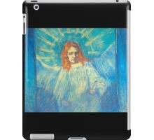 'Half Figure of an Angel' by Vincent Van Gogh (Reproduction) iPad Case/Skin