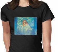'Half Figure of an Angel' by Vincent Van Gogh (Reproduction) Womens Fitted T-Shirt